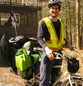 Me with all my gear loaded on my Xtracycle.