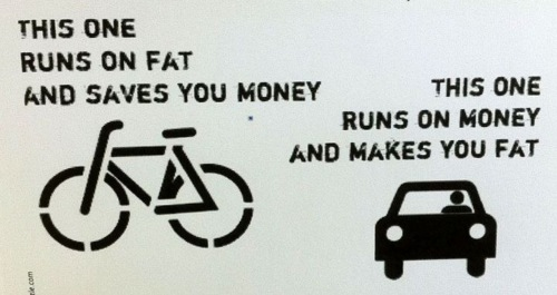 This bike runs on fat and saves you money.